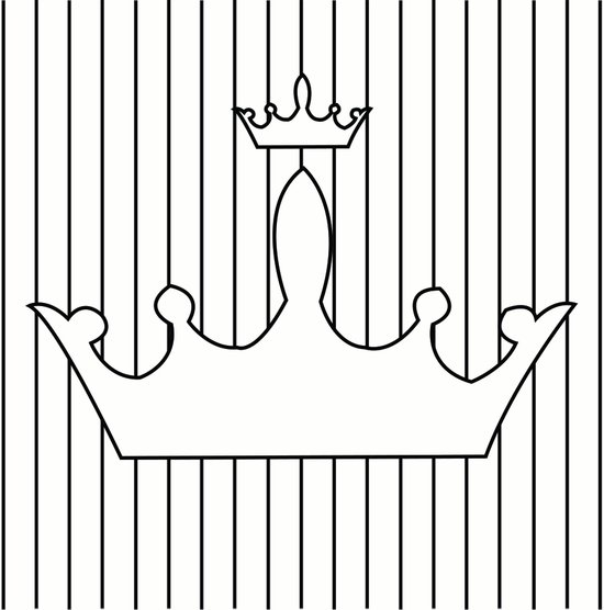 crown and stripes 3 Art Print