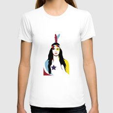 =Juliette Lewis///White= Womens Fitted Tee White SMALL