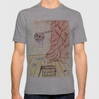 Furry Paint Monster Mens Fitted Tee Athletic Grey SMALL