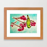 Japanese White-Eye Framed Art Print