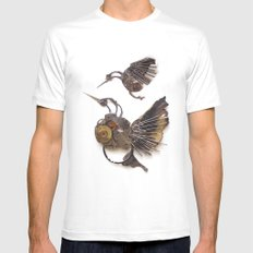 Rad's Hummingbirds SMALL Mens Fitted Tee White