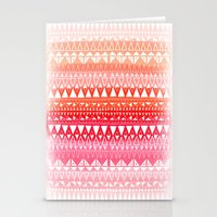 Triangle Gradient Pink M… Stationery Cards