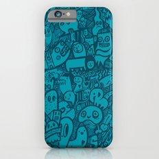 Blue Doodle iPhone 6s Slim Case
