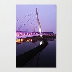The Swansea Sail Bridge. Canvas Print
