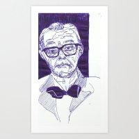 Bowtie Man Art Print