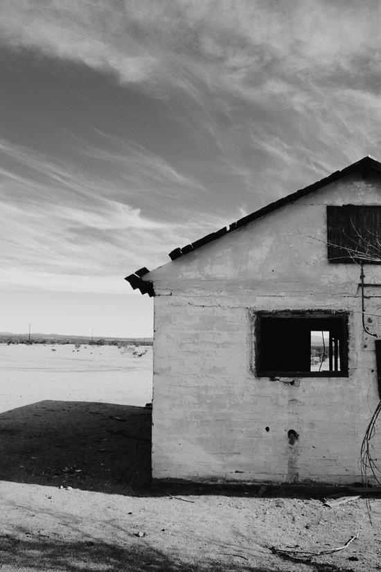Desert House - BW Art Print