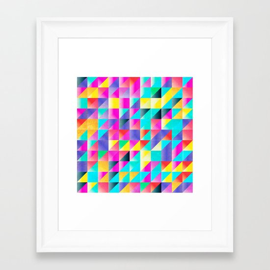 Geometric Neon  Framed Art Print