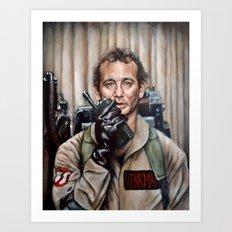 Bill Murray / Ghostbusters / Peter Venkman Art Print