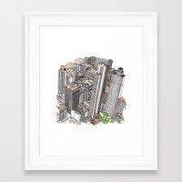 New York View Framed Art Print