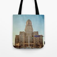 Down Town City Hall Buffalo NY  Color Tote Bag