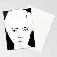 girl in black Stationery Cards