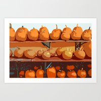 Pumpkin On Board Art Print