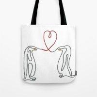 Penguins In Love Single … Tote Bag