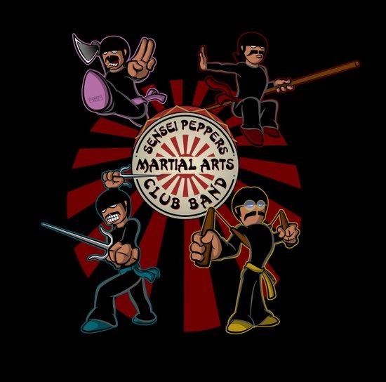Sensei Pepper's Martial Arts Club Band Art Print