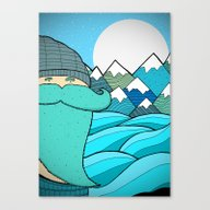 Blue Beard Canvas Print