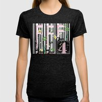 Four Freedoms Barcode Womens Fitted Tee Tri-Black SMALL