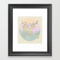 Unifawn (color) Framed Art Print