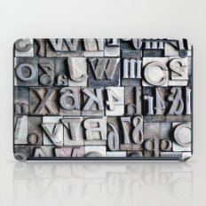 Letterpress iPad Case