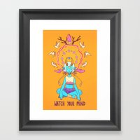 WATCH YOUR MIND Framed Art Print