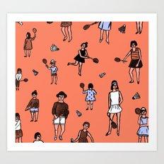 Badminton Art Print