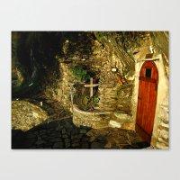 The Monastic Rock Hut of Elder Gerasimos of Kephalonia, Mount Athos Canvas Print