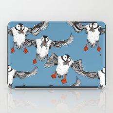 Atlantic Puffins blue iPad Case