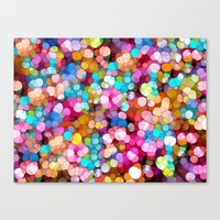 Rainbow Party Colors Canvas Print
