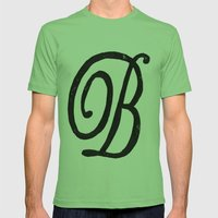 Monogrammed Letter B Mens Fitted Tee Grass SMALL