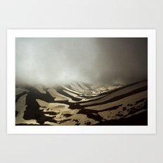 snow valley Art Print