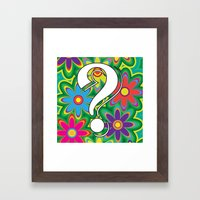 Psychedelic Question Mar… Framed Art Print