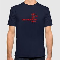 God Made LiGht - By Genu… Mens Fitted Tee Navy SMALL