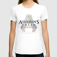 Assassin's Creed Black Office Womens Fitted Tee White SMALL