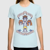 Appetite for Destruction Womens Fitted Tee Light Blue SMALL