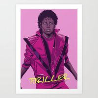 THRILLER - Leather jacket Version Art Print