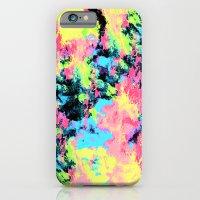 Blacklight Neon Swirl iPhone 6 Slim Case