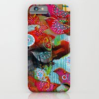 iPhone & iPod Case featuring small song birds by Randi Antonsen