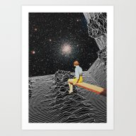 Art Print featuring Unknown Pleasures To Inf… by Mariano Peccinetti A…