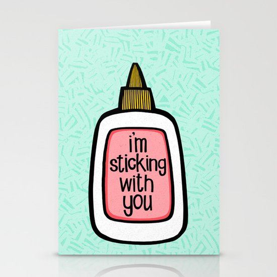 sticking with you ii Stationery Card