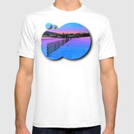 Fences On A Winter Sundo… Mens Fitted Tee White SMALL