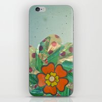 The Silver Flower iPhone & iPod Skin