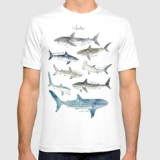 Sharks SMALL Mens Fitted Tee White