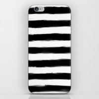 Black Paint Strokes Stripes iPhone & iPod Skin