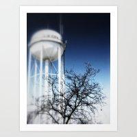 water tower Art Print