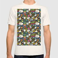 Rainbow In The Dark Mens Fitted Tee Natural SMALL