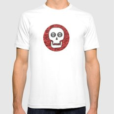 Skull Poppy Mens Fitted Tee White SMALL