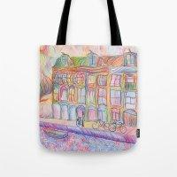 Wandering Amsterdam - Colored Pencil Tote Bag