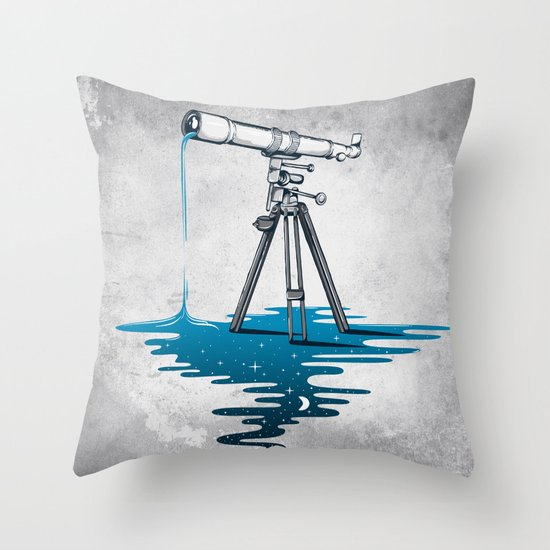Liquid Universe Throw Pillow
