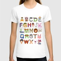 TMNT ABCs Womens Fitted Tee White SMALL