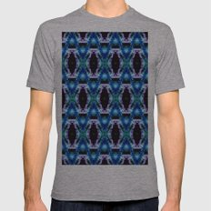 Blue Black Space Diamond… Mens Fitted Tee Athletic Grey SMALL
