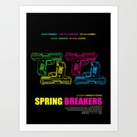 Spring Breakers Art Print